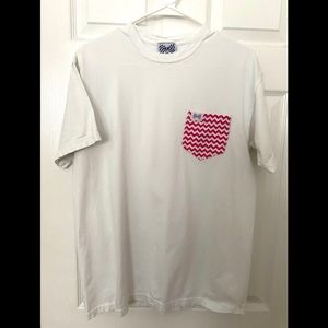 Fraternity Collection Frocket Tee Shirt-Medium